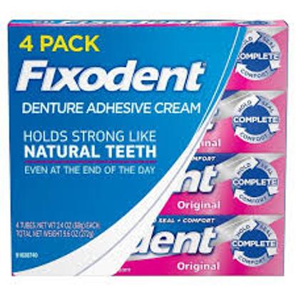 Fixodent Complete Original Denture Adhesive Cream 4 pk 2.4 oz