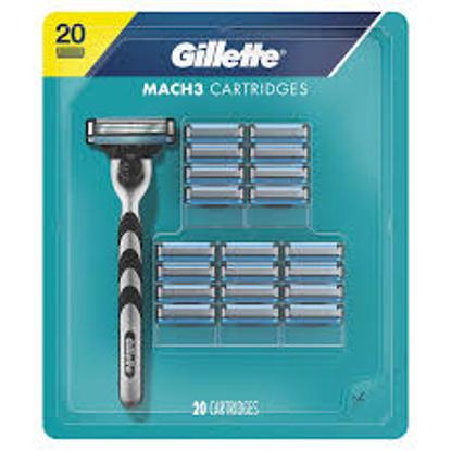 Gillette Mach3 Men's Razor Blade Refills 20 ct