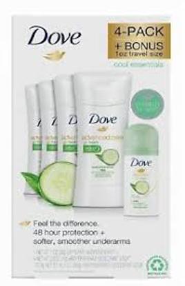 Dove Advanced Care Deodorant Go Fresh Cool Essentials 2.6 oz 4 pk  1 oz Dry Spray