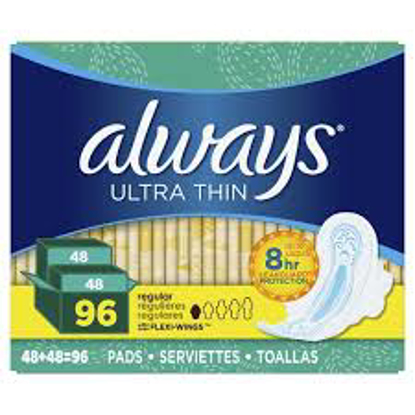 Always Fresh Clean Scent Ultra Thin Regular Pads with Flexi-Wings 96 ct