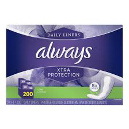 Always Xtra Protection Pantiliners 200 ct
