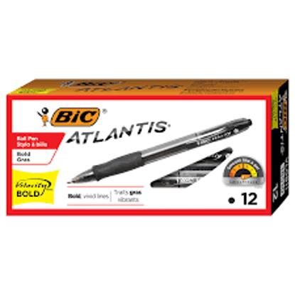 BIC Velocity Retractable Ballpoint Pen 1.6mm Bold Black 12 pk