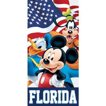 Picture of Disney Flag Friends Mickey Donald Goofy Beach Towel