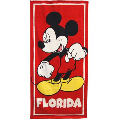 Picture of Disney Classic Mickey Red Beach Towel