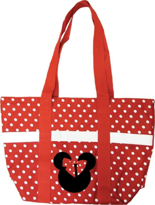 Picture of Disney Mickey and Minnie Mouse Icon Polka Dot Travel Beach Tote