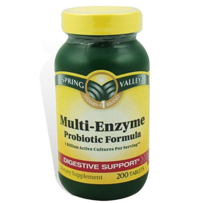 Picture of Spring Valley Multi-Enzyme Probiotic 200 Tablets