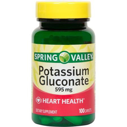 Picture of Spring Valley - Potassium Gluconate 595 mg (Potassium 99mg) , 100 Caplets