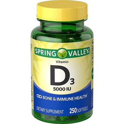 Picture of Spring Valley - Vitamin D-3 5000 IU, 250 Softgels