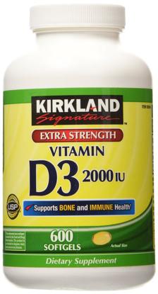 Picture of Kirkland Signature Extra Strength Vitamin D3 2000 I.U. : 600 Softgels