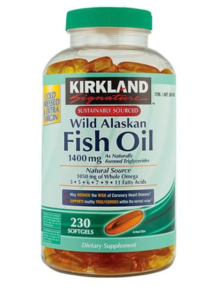 Picture of Kirkland Wild Alaskan Fish Oil 1400mg 230 Softgels