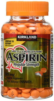 Picture of Kirkland Signature Safety Coated Enteric Aspirin 325 mg 500 Tablets