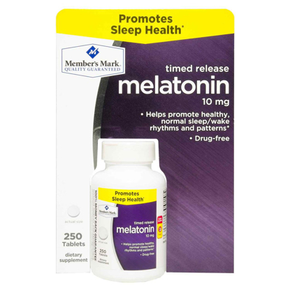 Picture of Member's Mark 10 mg Melatonin Dietary Supplement (250 ct.)