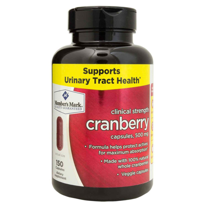 Picture of Member's Mark Clinical Strength 500mg Cranberry Dietary Supplement (150 ct.)