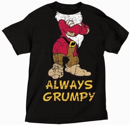 Picture of Disney Adult T-Shirt Headless Grumpy Black