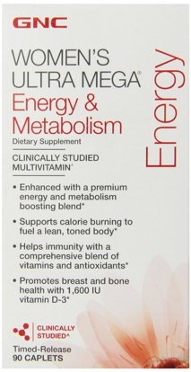 Picture of GNC Women's Ultra Mega-Energy & Metabolism 90 Caplets
