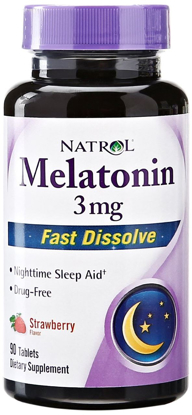 Picture of Natrol Melatonin 3mg Fast Dissolve Tablets, Strawberry, 90-Count