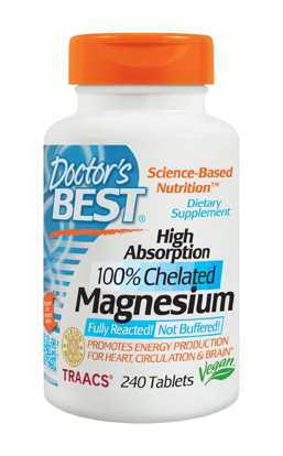 Picture of Doctors Best High Absorption Magnesium 200 Mg Elemental 240 Count
