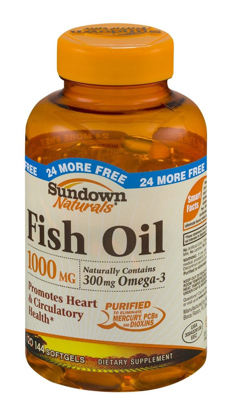 Picture of Sundown Naturals Dietary Supplement Fish Oil 1000mg  144 Ct