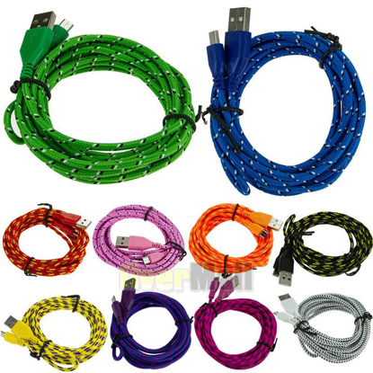Picture of Micro USB Android 2 Charger Cord Data Sync Samsung Galaxy S5 S4 S3 3ft