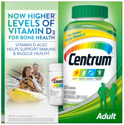 Picture of Centrum Adults Multivitamin Multimineral Supplement  425 Tablets