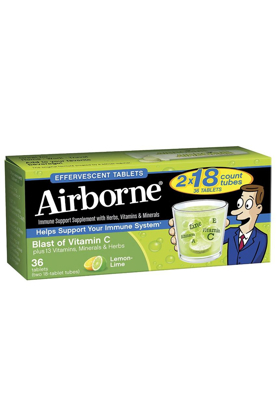 Picture of Airborne Effervescent Adult Formula 36 Tablets Lemon Lime Bonus Size