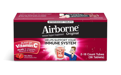 Picture of Airborne Effervescent Health Formula Very Berry - 2/18 Tablet Tubes