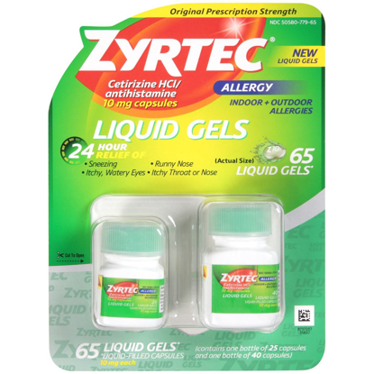 Picture of Zyrtec Liquid Gels, 65 Liquid Gels