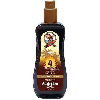 Picture of Australian Gold SPF 4 Spray Gel with Bronzer, 8 Ounce