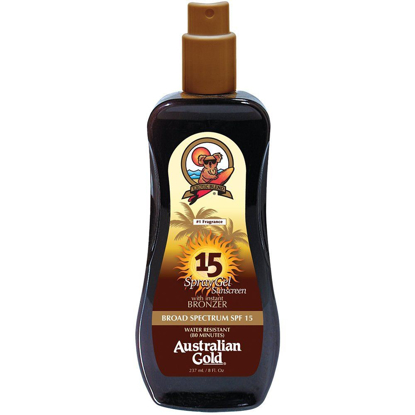 Picture of Australian Gold SPF 15 Spray Gel with Bronzer, 8 Ounce