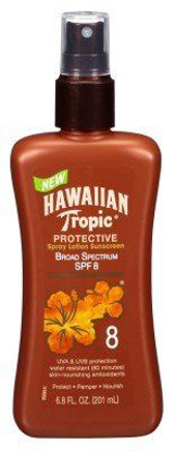 Picture of Hawaiian Tropic Protective Tanning Pump Lotion, SPF 8, 6.8 fl oz