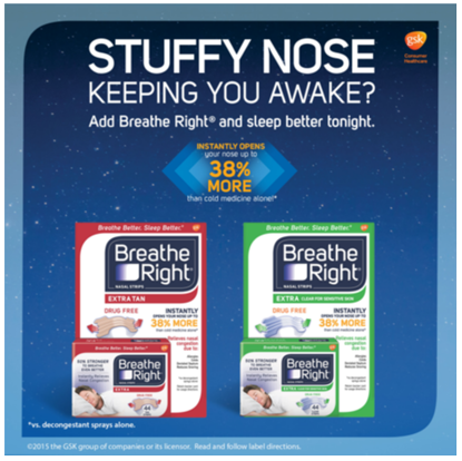 Picture of Breathe Right Nasal Strips Extra, Sensative Skin: 44 Clear Strips