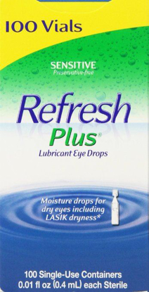 Picture of Allergan Refresh Plus Lubricant Eye Drops Single-Use Vials - 100 ct