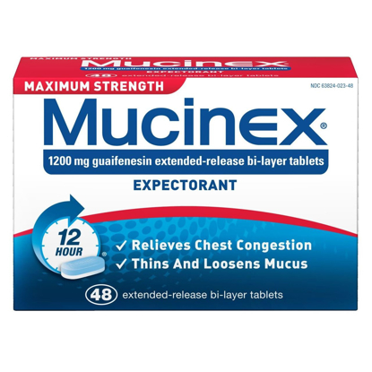 Picture of SCS Mucinex Expectorant Maximum Strength  48 ct