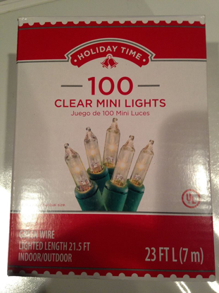 Picture of Traditional 21.5 Feet - Indoor / Outdoor Green Wire 100 Clear Mini Lights