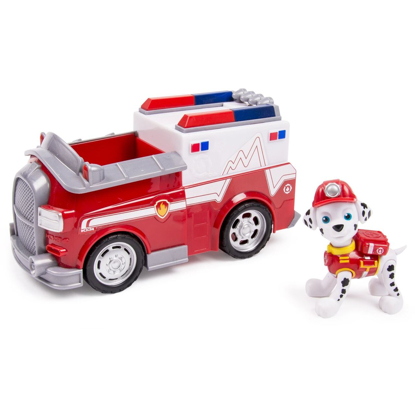 Picture of Paw Patrol Marshall's Ambulance, Vehicle and Figure (works with Paw Patroller)