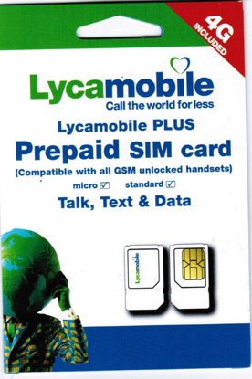 Picture of Lycamobile Dual SIM Card