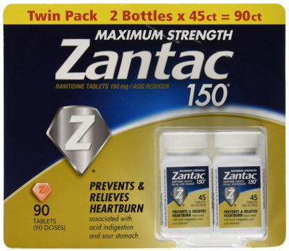 Picture of Zantac 150 Maximum Strength Tablets, Regular, 90 Count