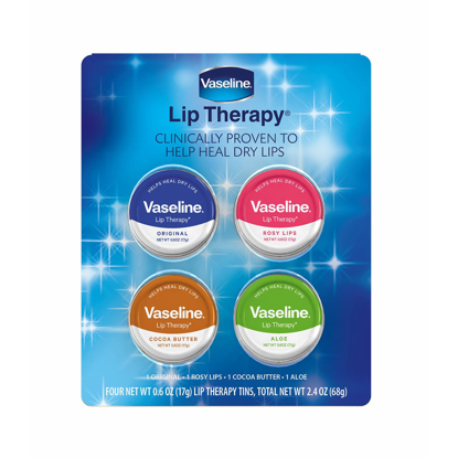 Picture of Vaseline Lip Therapy Tins, 4 pk
