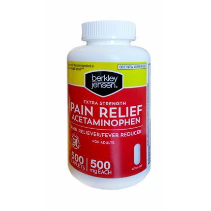 Picture of Berkley Jensen Extra Strength Pain Reliever 500 ct