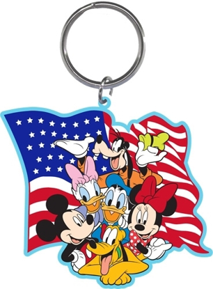 Picture of Amerikey Mickey Minnie Daisy Goofy Pluto Lasercut Keychain