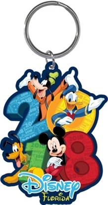 Picture of Disney 2018 Hangout Mickey Pluto Donald Goofy Laser Keychain