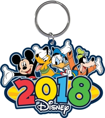 Picture of Disney 2018 Rollout Mickey Pluto Donald Goofy Laser Keychain