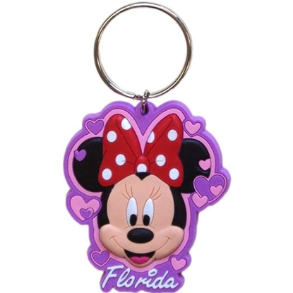 Picture of Disney Minnie Hearts Lasercut Keychain