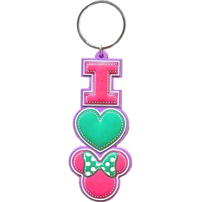 Picture of Disney I Heart Minnie Mouse Stack Lasercut Keychain