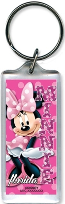 Picture of Disney Minnie Dots Lucite Keychain (Florida Namedrop)