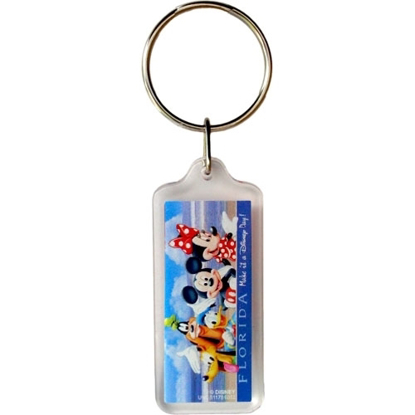 Picture of Disney Mickey Minnie Goofy Donald Pluto Group Beach Lucite Keychain