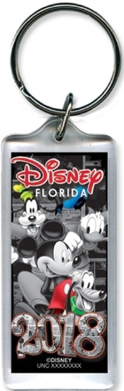 Picture of 2018 Vintage Pal Mickey Goofy Donald Pluto Lucite Key chain