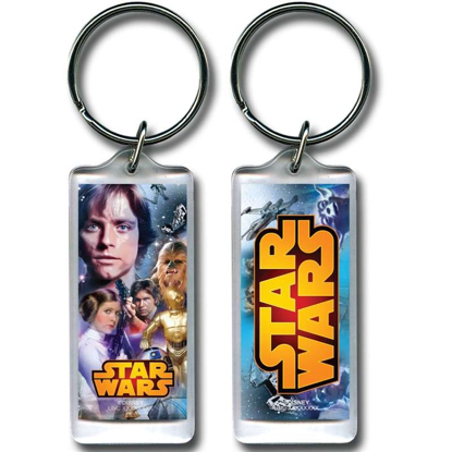 Picture of Star Wars Warriors Luke Skywalker Princess Leia Hans Solo C3PO R2D2 Lucite Keychain