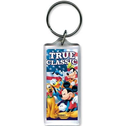 Picture of Disney American Classic Mickey Goofy Donald Pluto - Lucite Key chain