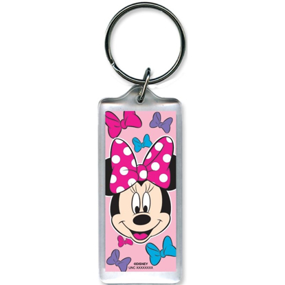 Picture of Disney Minnie Mouse Bows Pink Lucite Keychain